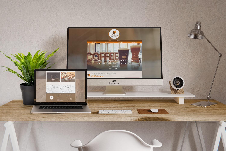 Creatie website||Villaroma Koffiebar