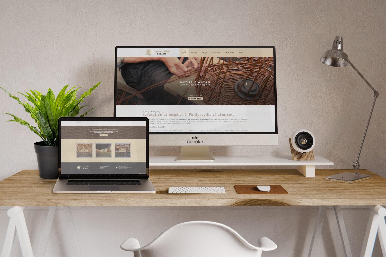 Création site internet||Cannage Paillage Bogaert