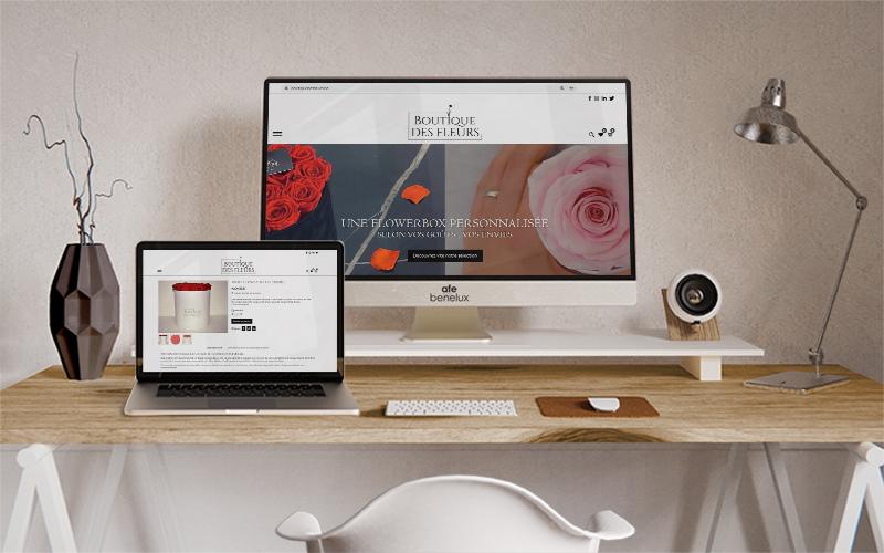 Création site e-commerce|| Boutique des fleurs